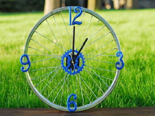Поделки из велосипедных колес фото 79