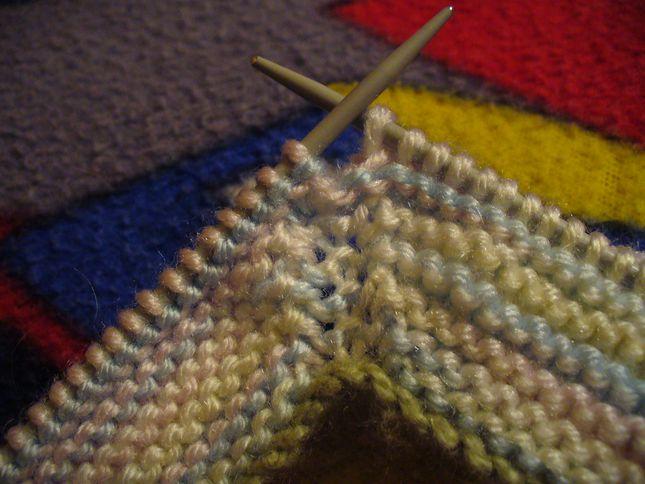 Вязание носка на двух спицах